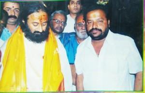 with Sri Sri Ravi Shankar Guruji . Jai Gurudev