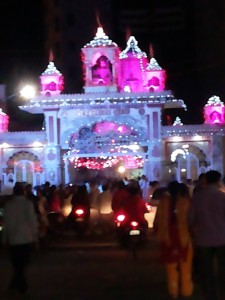 Bhavnath Swamy temple at night