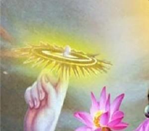 So the Sudarshana chakra in Dattaguru's hand is representing fire as it is said according to shastras  TEJAS TATVAM SUDARSHANAM.