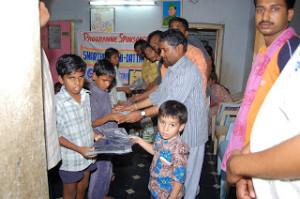 presnetation of special slates for blind children