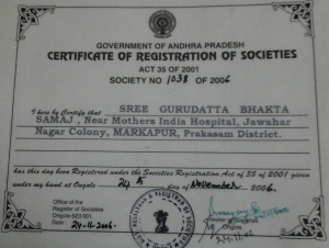 Certificate of Registraion