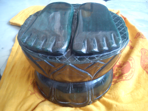 Guru Padukas in Marakatha stone