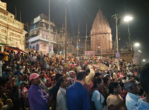 Crowd during Ganga harathi time