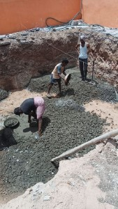 Construction work under progress
