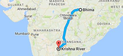 bhima river map