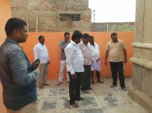 Marking the Mandir by Shri Satish