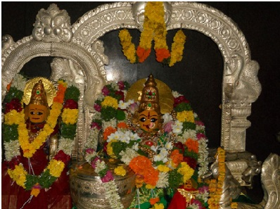 Maha Lakshmi & Maha Saraswathy inside the Temple